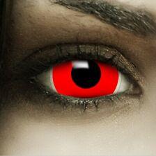 "Mini Sclera Lenses ""Red"" rote Kontaktlinsen Crazy Farbige Halloween Linsen"