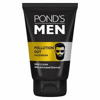 Pond's Men Pollution Out Face Wash, 100g with activated charcoal  free shipping
