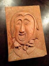 Vintage Hand Carved Wood English Folk Art Statue England