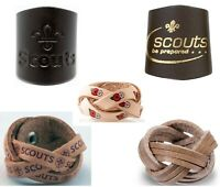 SCOUT LEATHER WOGGLE. Suitable for Scout/Explorer/Network/Adult