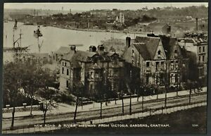 CHATHAM postcard New Rd. & River Medway from Victoria Gardens
