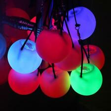 Pro LED Glow Poi Luminescent Toy Ball - Light up Practice Glow Poi Spinning I0B1