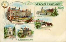 PRINTED POSTCARD OF St. ENOCH STATION HOTEL, GLASGOW, LANARKSHIRE, SCOTLAND TUCK
