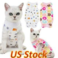 US Pet Cat Dog Cotton Surgery Clothing Recovery Protection Rehabilitation Suit