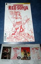 LEGGENDERRY RED SONJA #1 H HIGH END BLOOD RED variant ONLY 50 MADE DYNAMITE NM