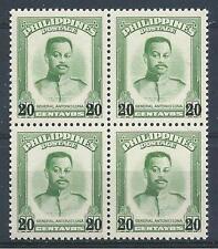 "Philippines 1961 Sc# 830 ""20/20 black -no bars"" General Antonio Luna block 4 MNH"