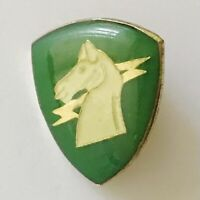 Airborne Division Green Horse Lightning Pin Badge US Military Vintage (R5)