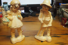 Vintage Chalkware Figurines – Boy and Girl Alpine/Dutch