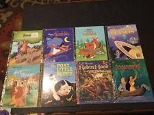 Little Little Golden Book Lot of 8 Disney Aladdin Robin Hood Pocahontas