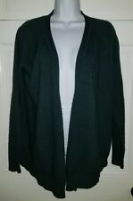 Jcrew forest green wool cashmere long cardigan sweater. S