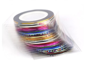 38Pcs Mixed Colors Rolls Striping Tape Line Nail Art Tips Decoration Sticker