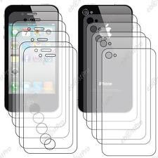 10 Film Protection Intégrale Cristal iPhone 4 4S 5 Avant Recto 5 Arrière Verso