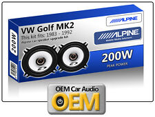 "VW Golf MK2 Front Door speakers Alpine 5.25"" 13cm car speaker kit 200W Max Power"