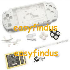 PSP 2000 Slim Full Housing Shell Case repair replacement button sticker white