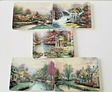 Thomas Kinkade Lamplight Village Rectangle Collector Plates Lot of Five