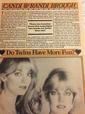 Candi and Randi Brough, Full Page Vintage Clipping