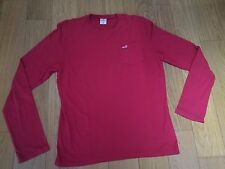 T-Shirt HOLLISTER Taille M Rouge Manches Longues