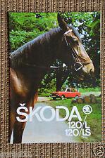 Vecchia originale prospetto SKODA 120/l 120/ls TOP Condizione