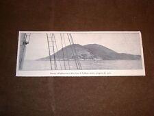 Rarissima veduta di Saseno dalla baia di Valona o Vlora nel 1913 Albania