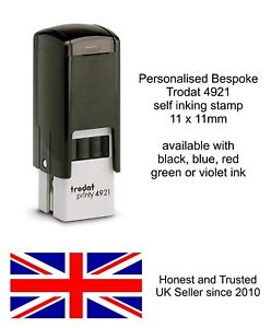 PERSONALISED HAND RUBBER STAMP 11mm IDEAL FOR NIGHTCLUBS PUBS EVENTS FESTIVALS