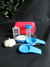 Tupperware NEW Mini Kit Blue Quickshake Bowl Keychains Measuring Magnets #10