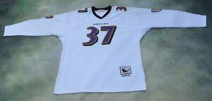 Vintage Mitchell & Ness NFL Baltimore Ravens Deion Sanders #37 Jersey Size 52.