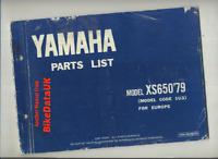 Yamaha XS650 (1979 >>) Factory Parts List Catalogue Book Manual XS 650 1U3 BR76