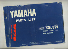 Yamaha XS650 (1979 >>) Factory Parts List Catalogue Book Manual XS 650 1U3 BR76