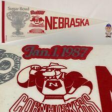 1987 Nebraska Cornhuskers Lincoln Football University Pennant 12x30 Sugar Bowl