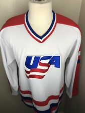 Vintage US HOCKEY Team USA Hockey White Jersey Mens Size Large