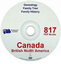 Family History Tree Genealogy England Canada Nth America Old Historic Books DVD