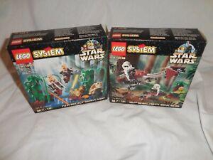 Star Wars Lego 7121 Naboo Swamp & 7128 Speeder Bikes 100% Complete!!