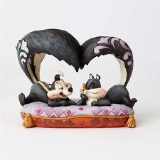 "Enesco Looney Tunes by Jim Shore PEPE LE PEW & PENELOPE ""Hello Cherie"" figurine"