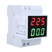 Digital Din-Rail LED Voltaje Amperimetro Medidor de Corriente Voltimetro AC R7B1
