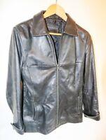 weiche ECHT LEDERJACKE schwarz GIORGIO Damen Gr 40 Leather jacket women black