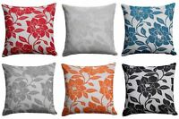"Peony Flower Cushion Cover Luxury Floral Chenille Cushion Covers 22"" x 22"""