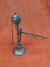 More details for antique silver middle eastern hookah pipe 19th century 7