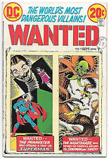 Wanted #9 (DC 1973, fn-vf 7.0) Superman & Sandman. Guide value $11.50 (£9.50)