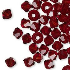 144 Swarovski Crystal 4mm Xilion Faceted Bicone Double Cone Beads W/ Facets L-Z