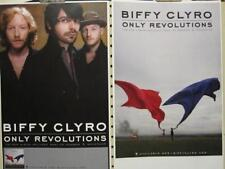 BIFFY CLYRO 2011 ONLY REVOLUTIONS 2 SIDED PROMO POSTER ~NEW~!!