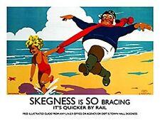 Skegness JOLLY PESCATORE (vecchio annuncio ferroviario). segno di metallo (og 2015)