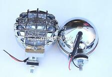 2X CLEAR WHITE 4X4 OFFROAD BULL BAR ROOF FOG SPOT LIGHTS LAMPS168mm NEW