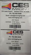 "2 Rolls 36""x500' Bond Plotter Paper Canon IPF 750 755 760 765 Inkjet 3"" core"