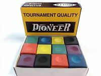 Pool Snooker Billiard Cue Tip Table Chalk RAINBOW BOX 12 Blocks of Chalk VALUE