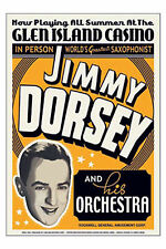 Jimmy Dorsey and His Orchestra * Glen Island Casino - 1936 * 17x24 inch poster