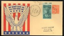 WWII Patriotic Cover -  Peace Treaty Signed 1