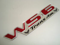 SUPER NEW~ RED Pontiac TRANS AM WS6 Emblem Firebird CETA GM LICENSED