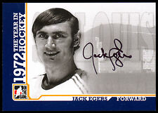 2009 ITG 1972 THE YEAR IN HOCKEY AUTO AUTOGRAPH SIGNED JACK EGERS ST LOUIS BLUES
