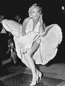 ICON! MARYLIN MONROE SKIRT  WALL ART POSTER PRINT SIZE A1 /A2 /A4 (v2)