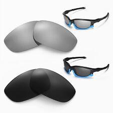 New Walleva Polarized Black + Titanium Lenses For Oakley Split Jacket